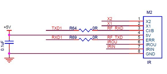a物联网实验设备中红外学习模块的使用例程