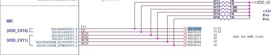板的i2c相关的硬件原理图